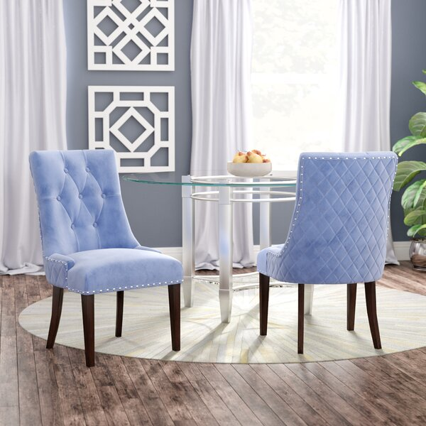 Bernyce Velvet Upholstered Dining Chair (Set of 2) by Willa Arlo Interiors