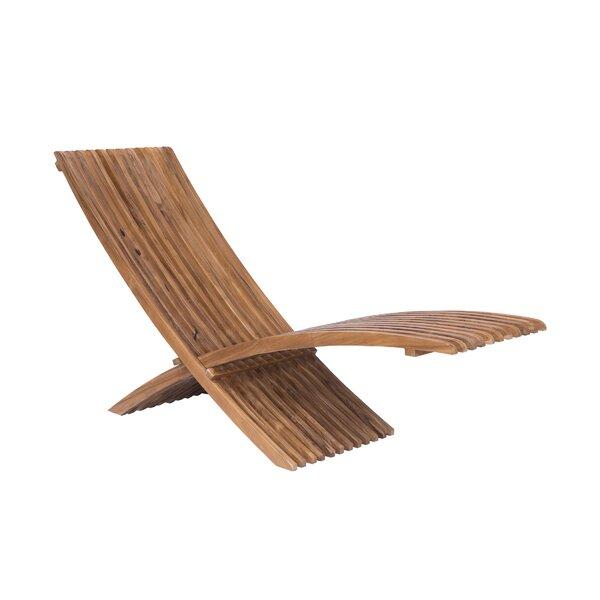 Leon Teak Patio Chair by Bayou Breeze Bayou Breeze