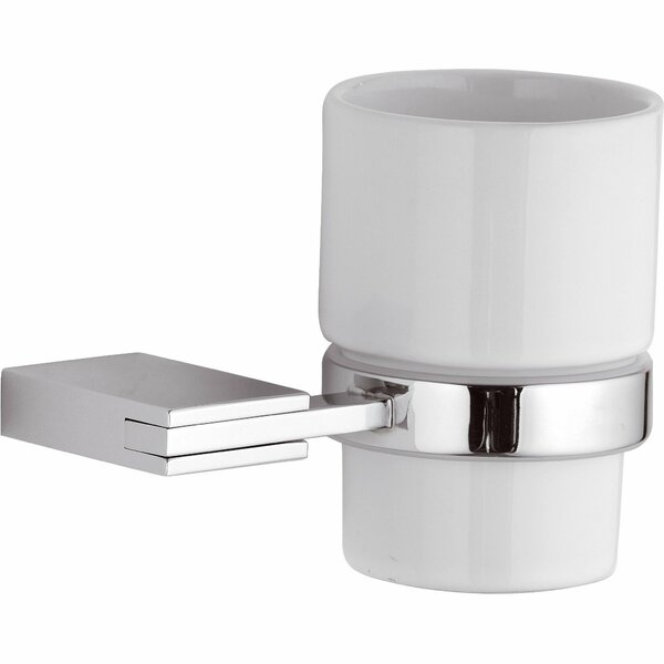Marcell Wire Wall Ceramic Toothbrush & Tumbler Holder by Latitude Run