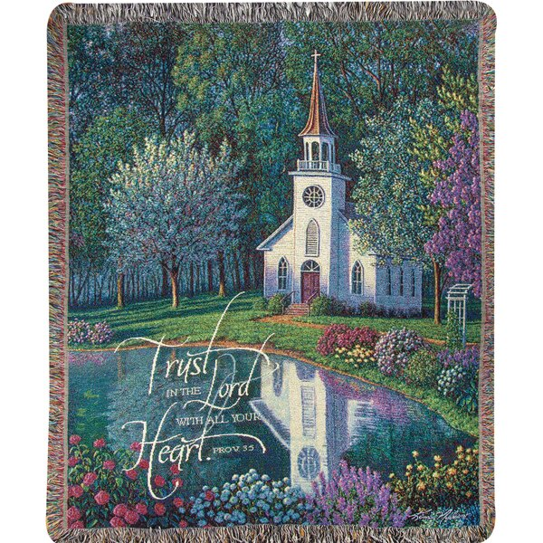 Sanctuary Tapestry Cotton Throw by Manual Woodworkers & Weavers