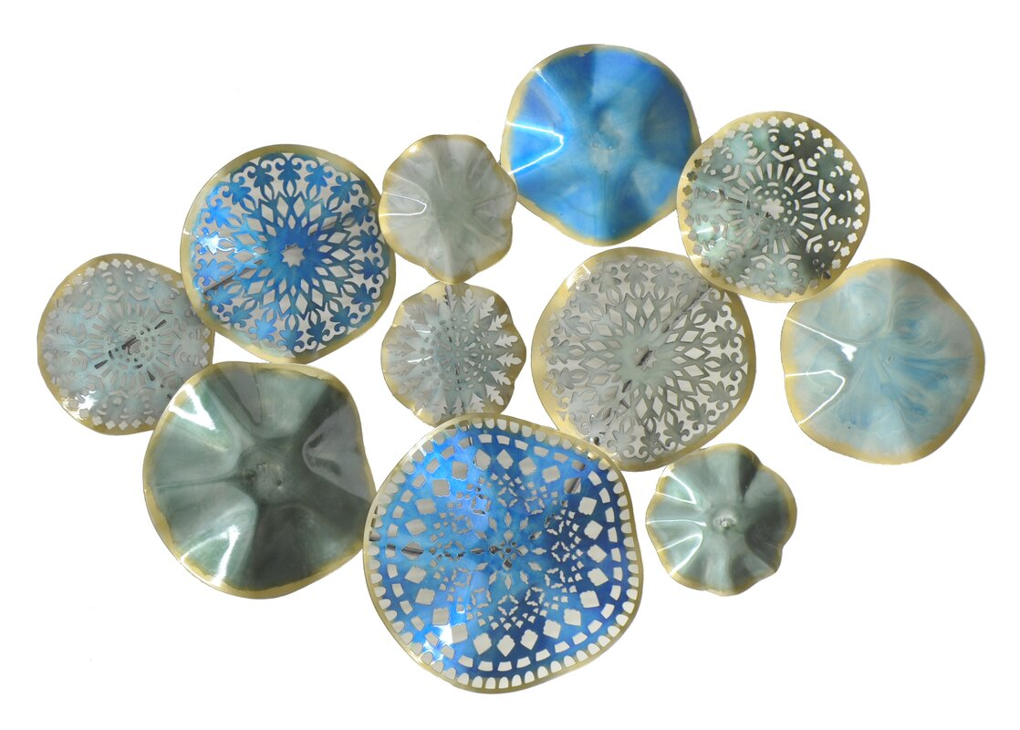 Blue Metal Wall Decor Interesting Three Hands Cocircular Cluster Metal Wall Décor & Reviews  Wayfair Design Ideas