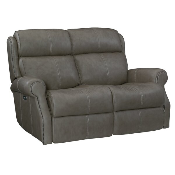 Mcgwire Leather Reclining Loveseat By Bernhardt
