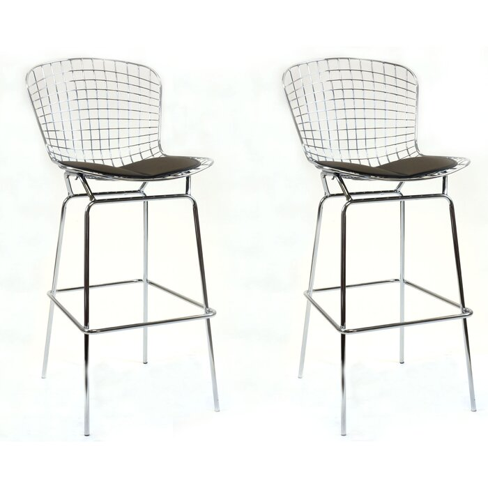 Enjoyable Balcom Steel Wire Bar Stool Creativecarmelina Interior Chair Design Creativecarmelinacom