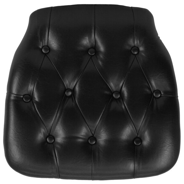 Hard Tufted Vinyl Chiavari Chair Cushion by Flash Furniture