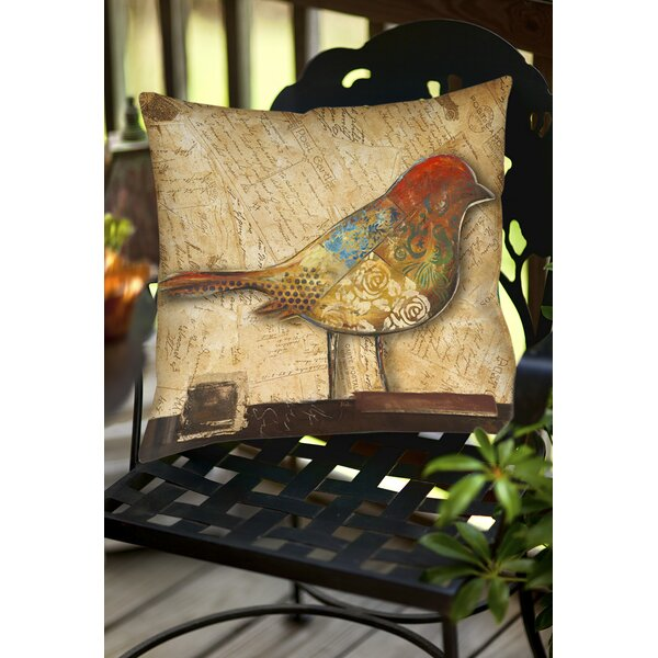 Bird Indoor/Outdoor Throw Pillow by East Urban Home