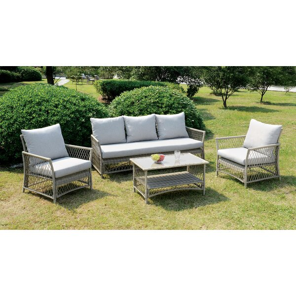 Vera 4 Piece Sofa Set with Cushions by A&J Homes Studio