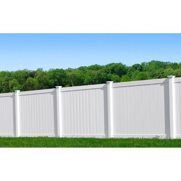 6 ft. H x 6 ft. W Rainier Privacy Fence Panel by Vinyl Fence Wholesaler