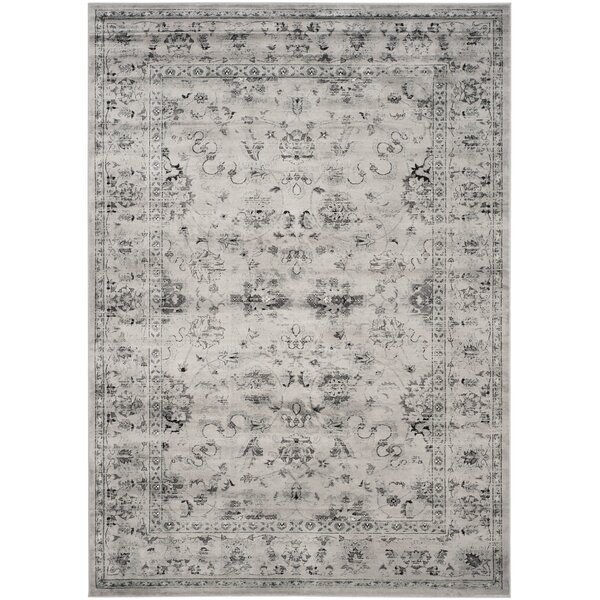 Rindge Gray/Ivory Area Rug by Charlton Home