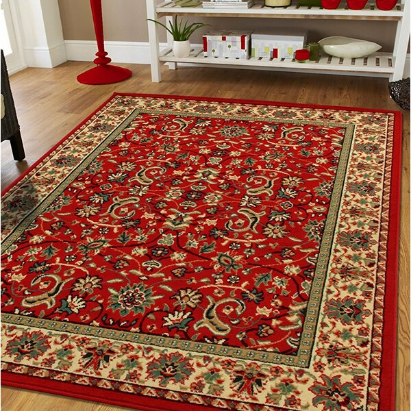 Neil Large Oriental Red Indoor/Outdoor Area Rug by Astoria Grand