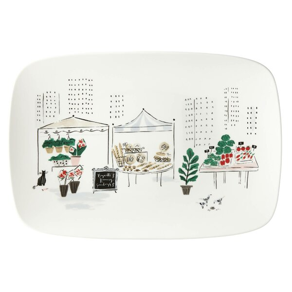 Kate Spafe New York to Market Oblong Platter by kate spade new york