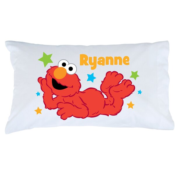 Personalized Sesame Street Elmo Star Pillow Case by CPS