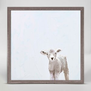 Baby Sheep by Cathy Walters Mini Canvas Framed Art by Oopsy Daisy