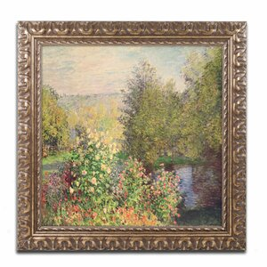 'Garden at Montgeron' by Claude Monet Framed Painting Print by Trademark Fine Art