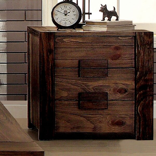 Elliston 3 Drawer Nightstand by Loon Peak