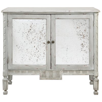 Eilis 2 Door Mirrored Accent Cabinet Gracie Oaks