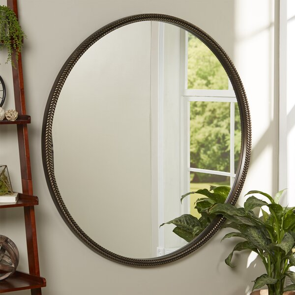 Round Bronze Premium Resin Wall Mirror by Darby Home Co