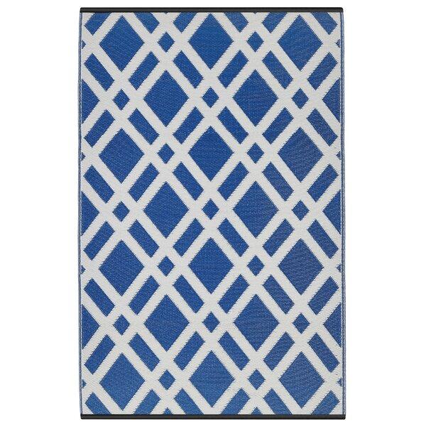 Reva Dazzling Blue & White Indoor/Outdoor Area Rug by Zipcode Design