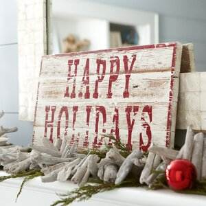 Happy Holidays Plaque by Birch Lane™