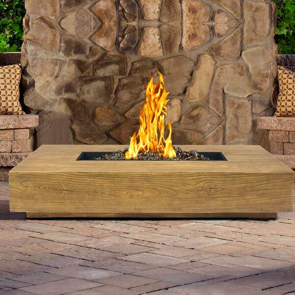 Ember Stainless Steel Propane Gas Fire Pit Table by Armen Living