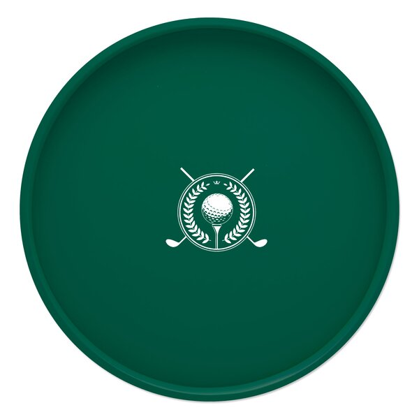 Keeter Golf 14 Round Serving Tray by Charlton Home