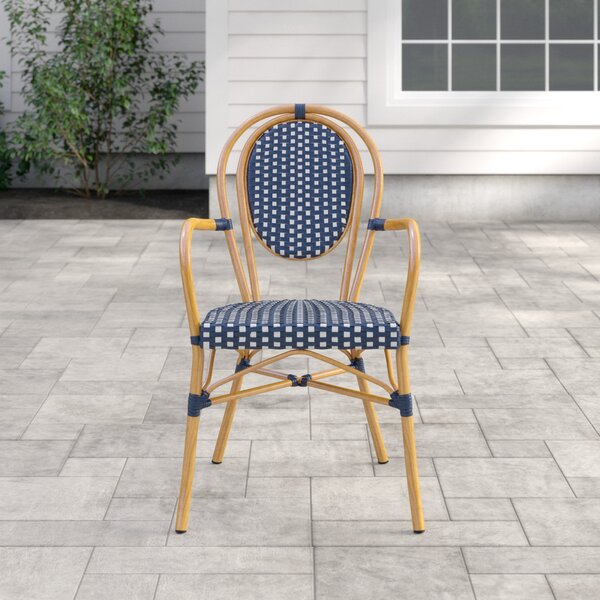 Rahul Stacking Patio Dining Chair (Set of 2) by Mistana
