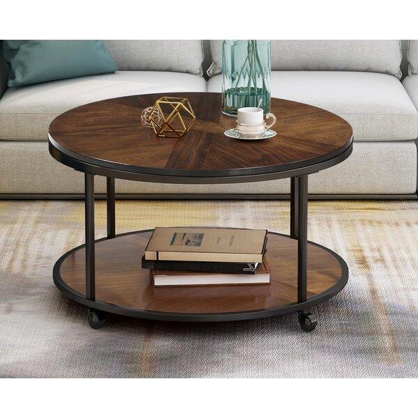 Review Alaniz Wheel Coffee Table With Storage