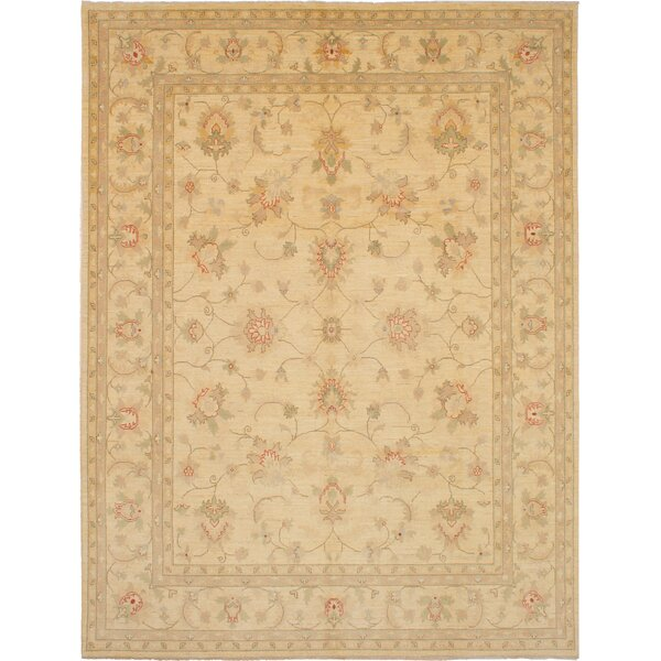 One-of-a-Kind Tarra Hand-Knotted Wool Cream Area Rug by Isabelline