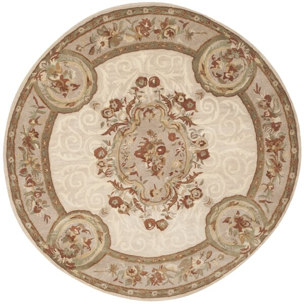 Atlasburg Hand-Tufted Wool Ivory Area Rug by Astoria Grand