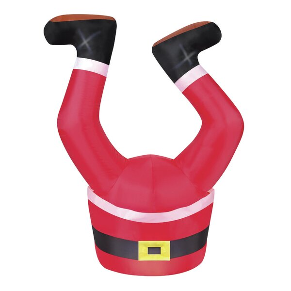 Santa Legs Inflatable by The Holiday Aisle