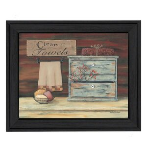 'Clean Towels' Framed Graphic Art Print by August Grove