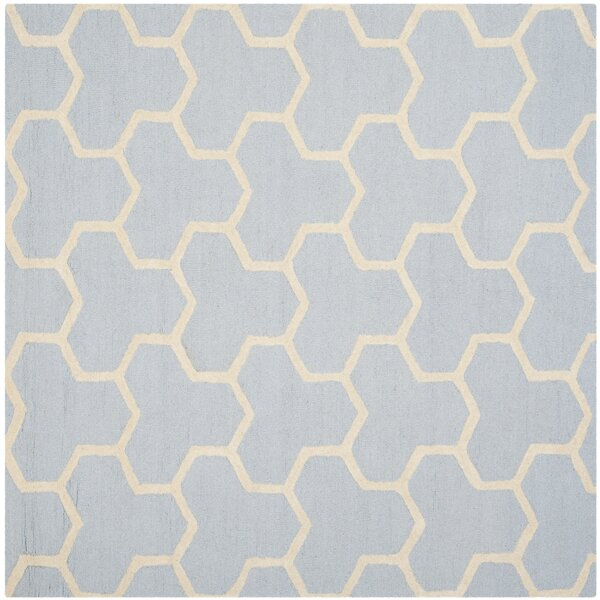 Harbin Light Blue/Ivory Area Rug by Brayden Studio