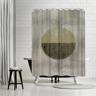 Lebens Art Glamour Circle Shower Curtain