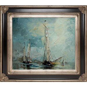 'Boats' Framed Painting Print by Birch Lane™