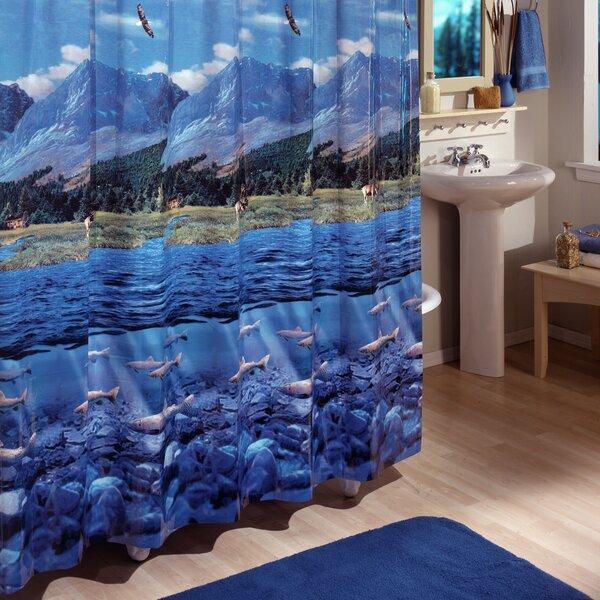 Mendham River Vinyl Shower Curtain by Loon Peak