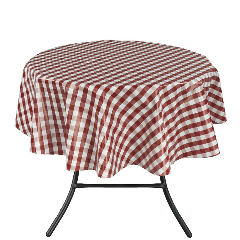 Ottomanson Essential Checkered Design Indoor/Outdoor Tablecloth ...