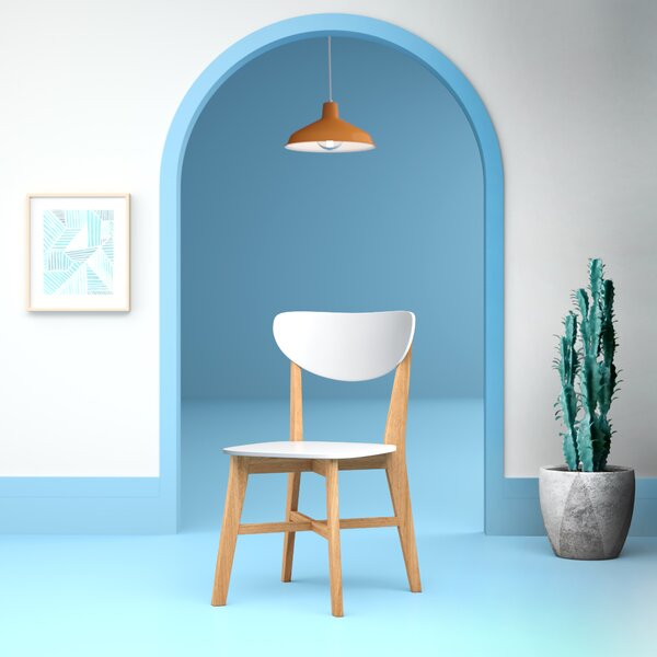 Aaliyah Zest Solid Wood Dining Chair by Hashtag Home