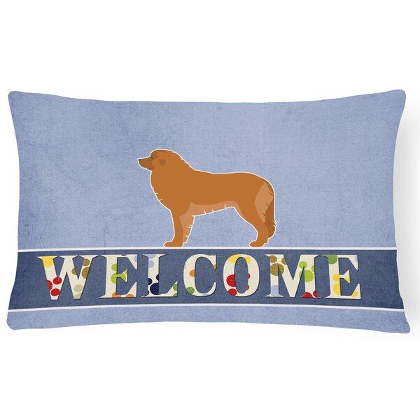 Edgington Leonberger Welcome Lumbar Pillow by Red Barrel Studio