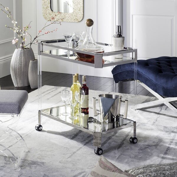 Kirby Mirror Bar Cart by Orren Ellis Orren Ellis