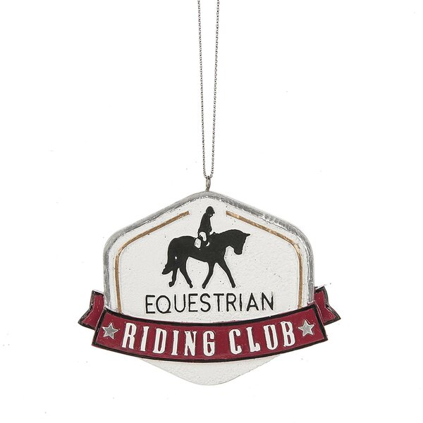 Equestrian Riding Club Hanging Figurine by The Hol