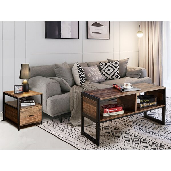 Loyce Vintage Metal 2 Piece Coffee Table Set by Foundry Select