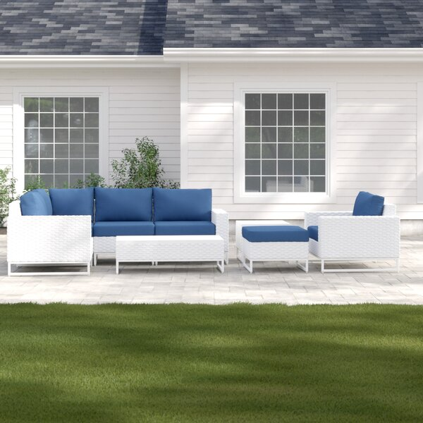 Menifee 8 Piece Sectional Seating Group with Cushions by Sol 72 Outdoor