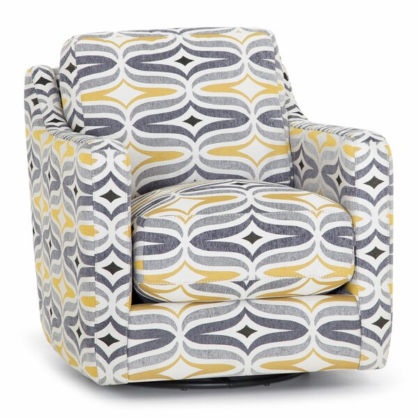 Panos Swivel Armchair by Wrought Studio