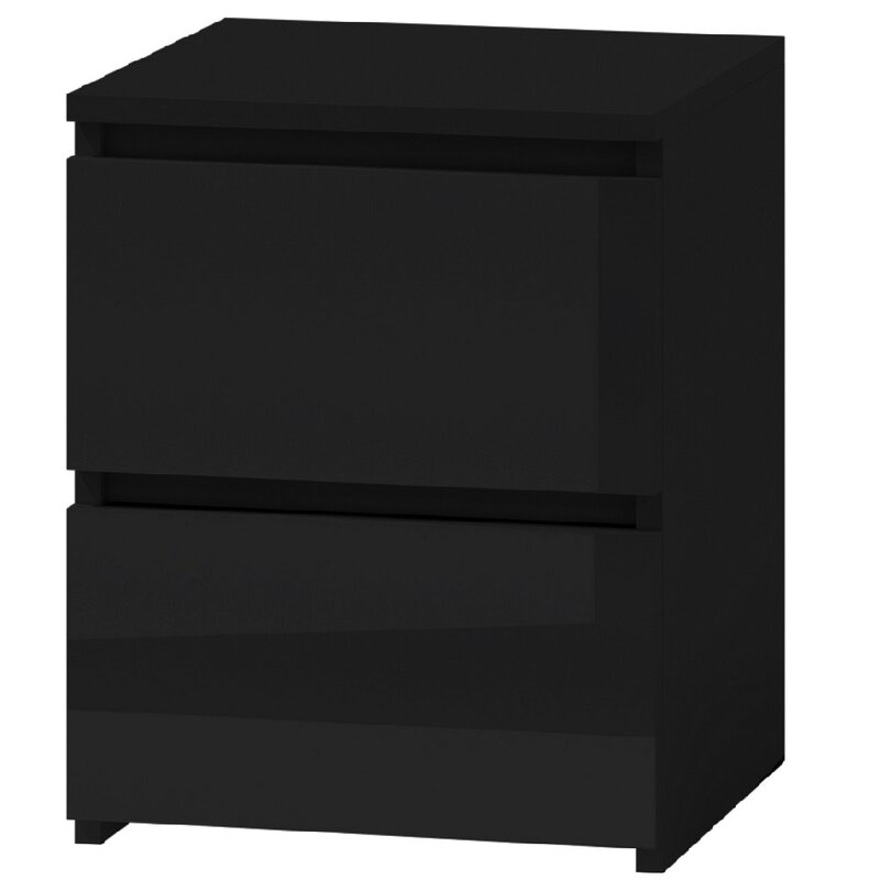 Neven 2 Drawer Bedside Table by Metro Lane