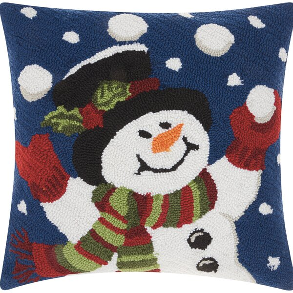 Haggerty Juggling Snowman Throw Pillow by Three Posts