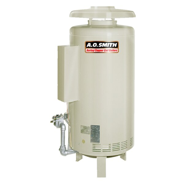 HW-420 Commercial Hot Water Supply Boiler Nat Gas Burkay 420,000 BTU Input by A.O. Smith