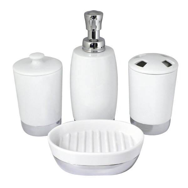 Isai 4-Piece Bathroom Accessory Set by Charlton Home