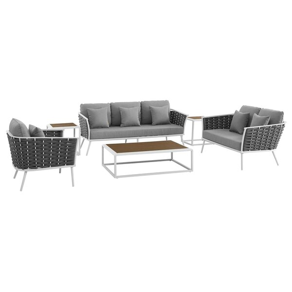 Rossville 6 Piece Sofa Seating Group with Cushions by Ivy Bronx Ivy Bronx