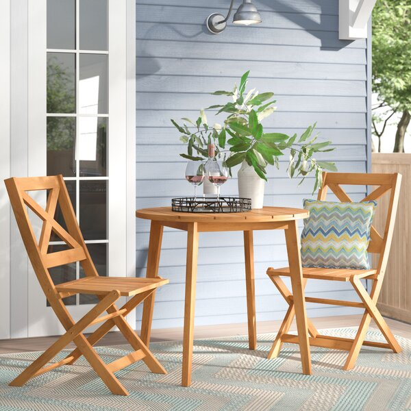 Donoho 3 Piece Bistro Set by Mercury Row
