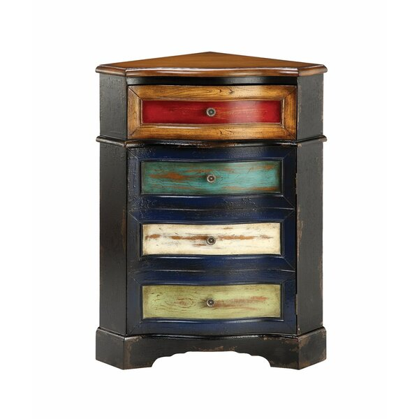 Belser 4 Drawer Corner Accent Chest by World Menagerie World Menagerie