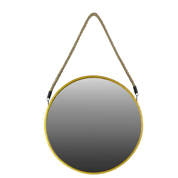 Round Accent Mirror by Urban Trends